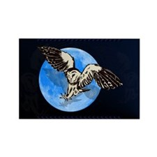Blue Moon Owl Rectangle Magnet (10 pack)