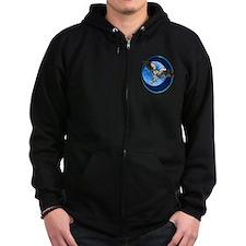 Blue Moon Owl Zip Hoodie