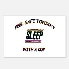 Cute Sleep with a cop Postcards (Package of 8)