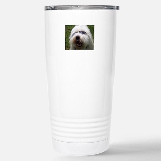 Coton Dog Stainless Steel Travel Mug