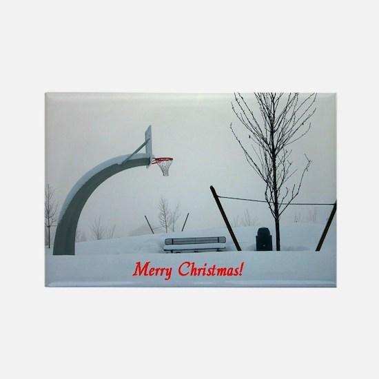 Christmas - Wintertime Rectangle Magnet