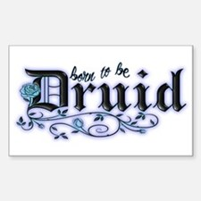 Born to be Druid Rectangle Decal