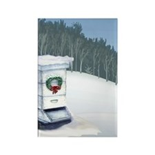 Snow Hive Rectangle Magnet