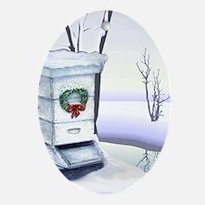 Winter Hive Oval Ornament