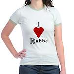 I Love (heart) Bubbe Jr. Ringer T-Shirt
