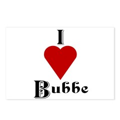 I Love (heart) Bubbe Postcards (Package of 8)