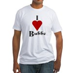 I Love (heart) Bubbe Fitted T-Shirt