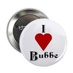 I Love (heart) Bubbe Button