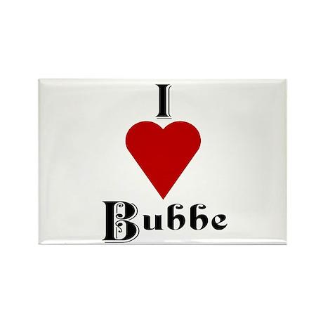 I Love (heart) Bubbe Rectangle Magnet