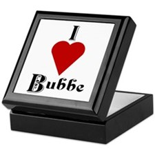 I Love (heart) Bubbe Keepsake Box