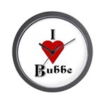 I Love (heart) Bubbe Wall Clock