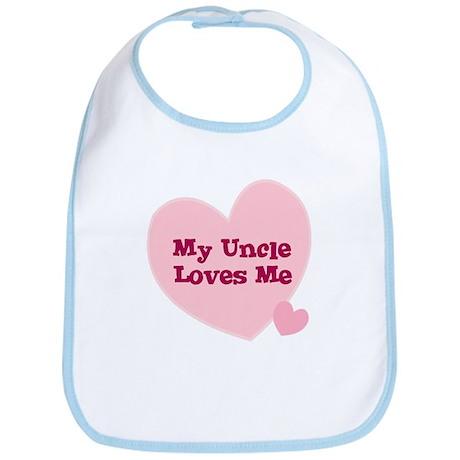 My uncle loves me bi cotton baby bib my uncle loves me bib cafepress com