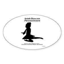 Girl Prizewinner - Oval Decal