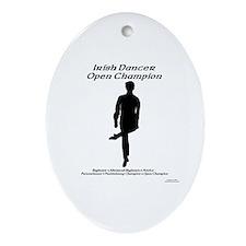 Boy Open Champ - Oval Ornament
