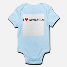 I Love Armadillos Infant Creeper