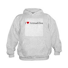 I Love Armadillos Hoodie
