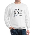 Retro Nurse Always wash your balls Sweatshirt