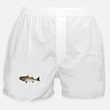 Striped Bass Gyotaku Boxer Shorts