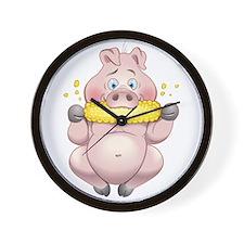 Hungry Piggies Wall Clock
