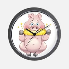 Hungry Piggies Wall Clock