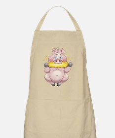 Hungry Piggies White Apron