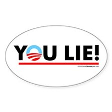 You Lie! 2 Oval Decal