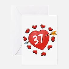37th Valentine Greeting Card