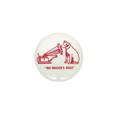 Nipper Victrola Mini Button (10 pack)