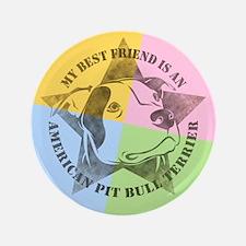 "My Best Friend (Color) 3.5"" Button (100 pack)"