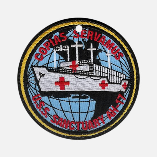 USS SANCTUARY Ornament (Round)