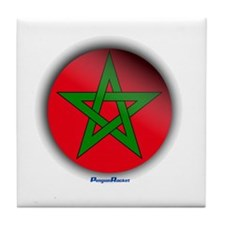 Morocco - Heart Tile Coaster