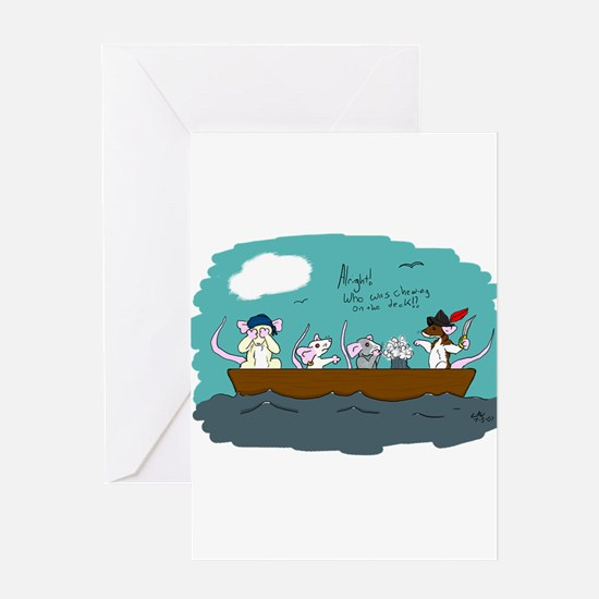 Trouble on Deck Greeting Card