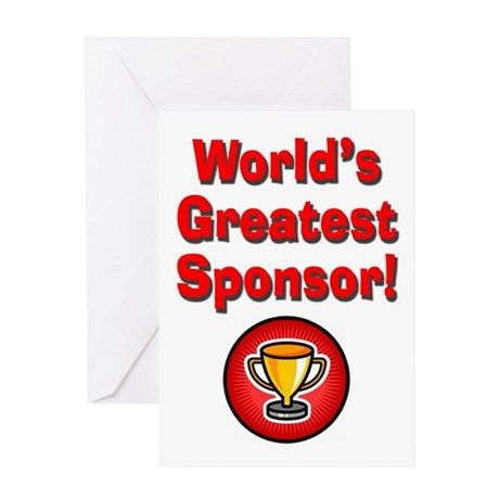 World's Greatest Sponsor Greeting Card