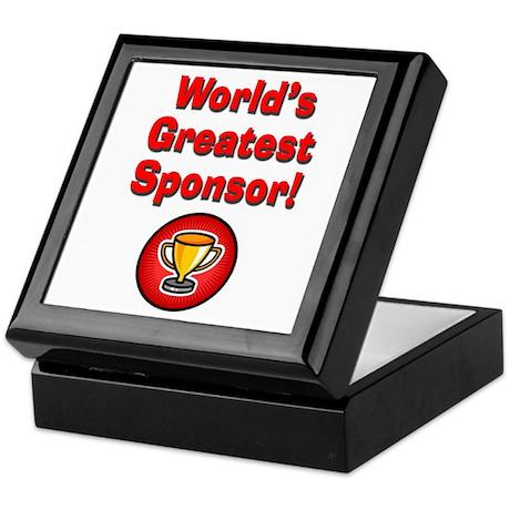 World's Greatest Sponsor Keepsake Box
