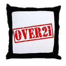Over 21 Throw Pillow