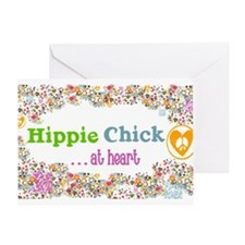 - Hippie Chick ... at heart Greeting Card