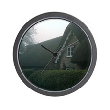Funny Thatch cottage Wall Clock