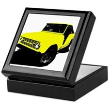 Yellow Bronco Keepsake Box