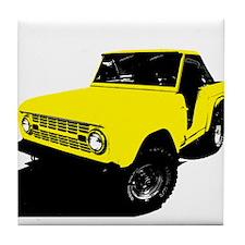 Yellow Bronco Tile Coaster