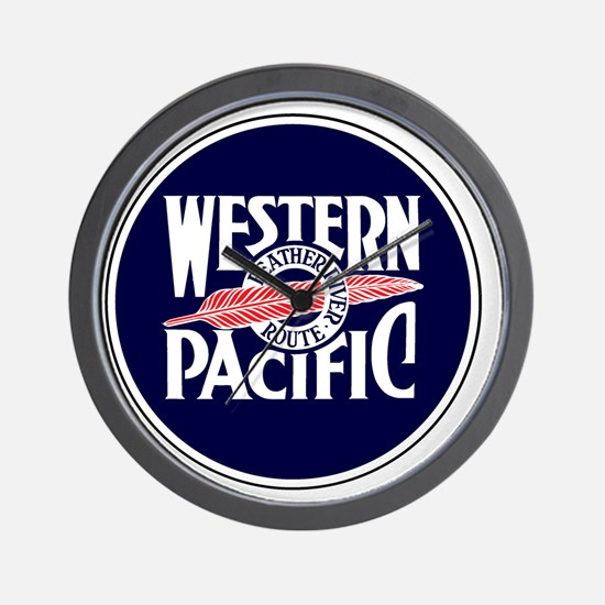Round Feather River Route logo Wall Clock