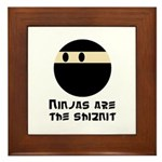 Ninjas are the shiznit Framed Tile