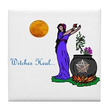 """""""Witches Heal"""" Tile Coaster"""