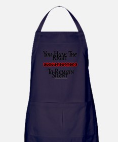 Right To Remain Silent Apron (dark)