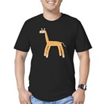 Giraffe Men's Fitted T-Shirt (dark)