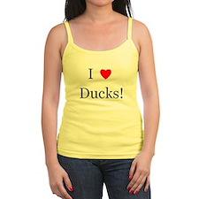 I Love Ducks Jr.Spaghetti Strap