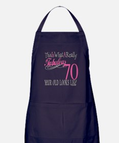 70th Birthday Gifts Apron (dark)