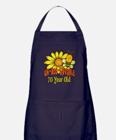 Un-Bee-Lievable 70th Apron (dark)