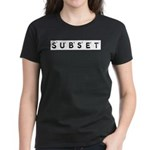 Subset Scrabble Letter Logo Women's Dark T-Shirt