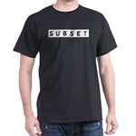 Subset Scrabble Letter Logo Dark T-Shirt