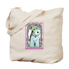 Love is a Wire Fox Terrier Tote Bag